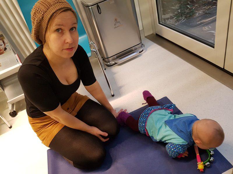 Baby im Wartezimmer