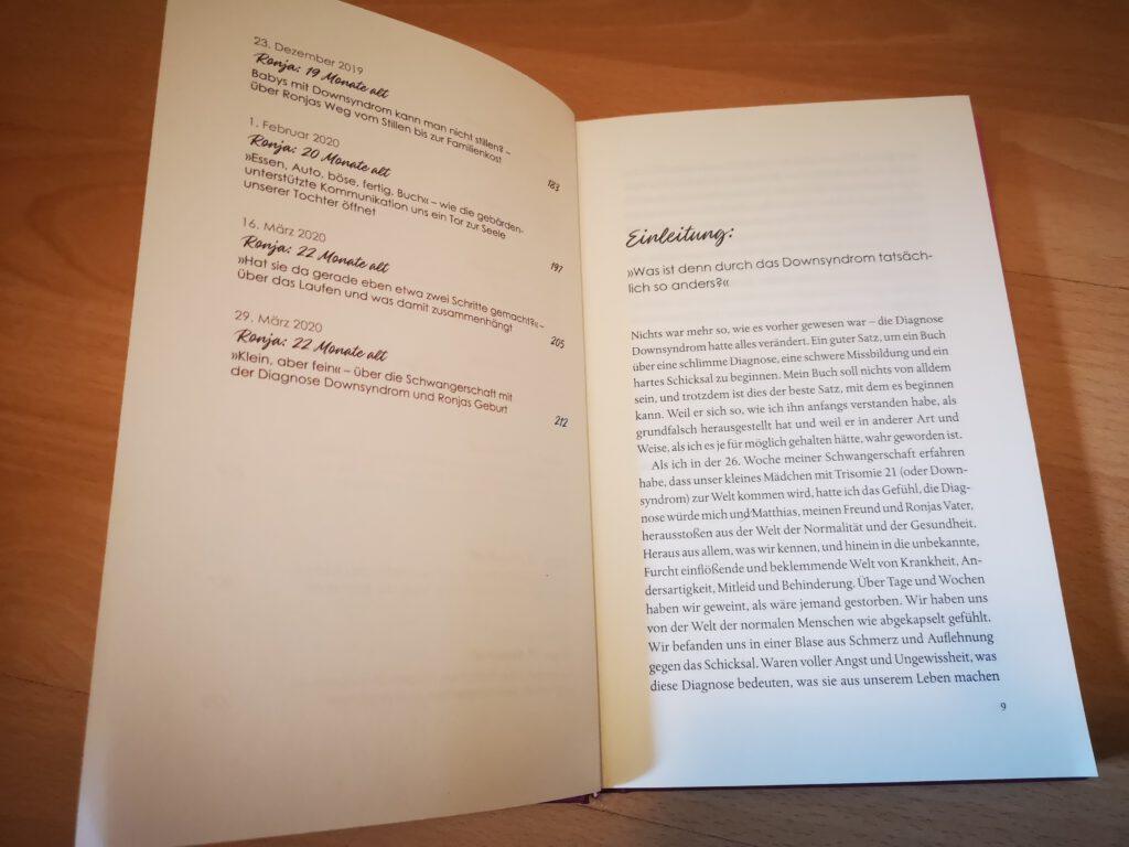 """Inhaltsverzeichnis des Buches """"Geliebte Ronja"""""""